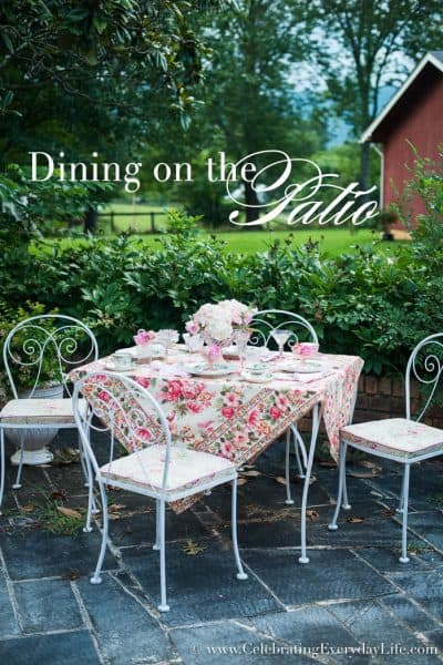 Dining on the Patio inspired by April Cornell