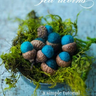 Make Your Own Felt Acorns