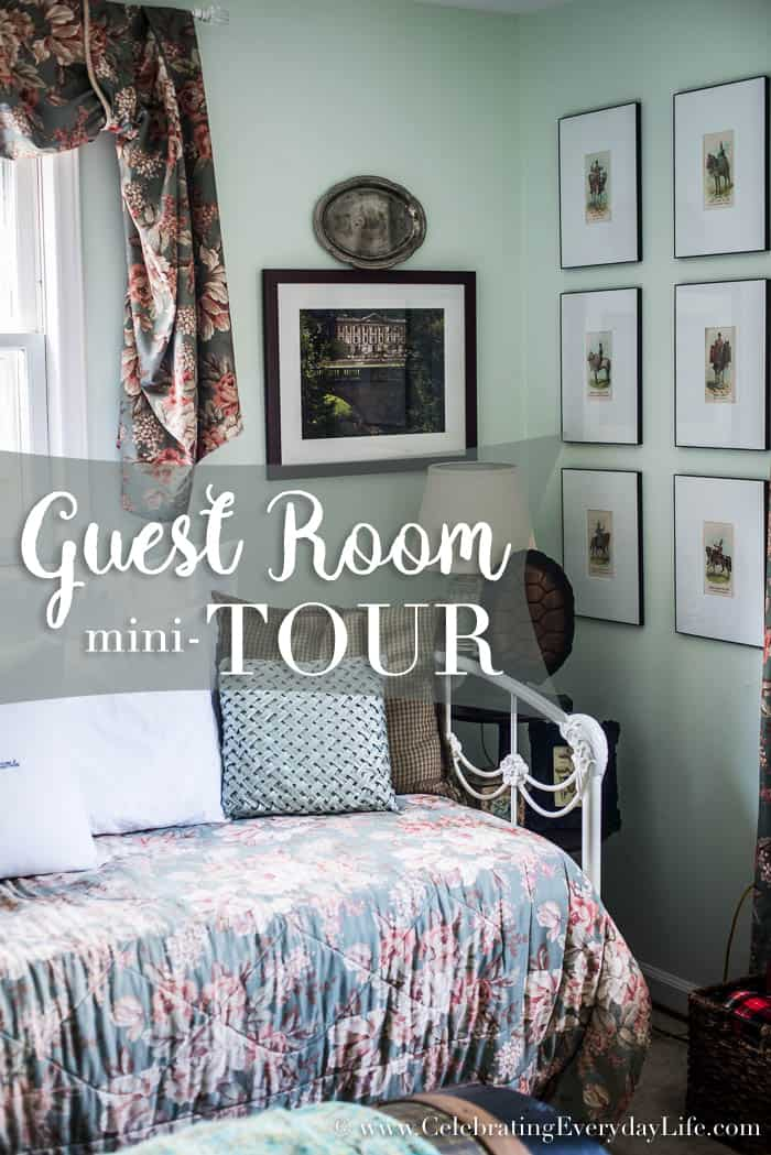 guest room mini tour, guest bedroom decor, ralph lauren guest bedroom, english country guest bedroom, floral guest bedroom, hunt country guest bedroom, Celebrating Everyday Life with Jennifer Carroll