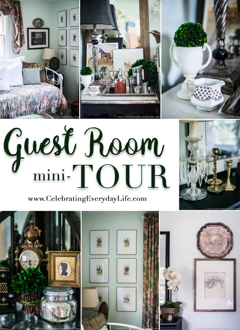 guest room mini tour, guest bedroom decor, ralph lauren guest bedroom, english country guest bedroom, floral guest bedroom, hunt country guest bedroom, Old Mill Inn by Waverly, Celebrating Everyday Life with Jennifer Carroll