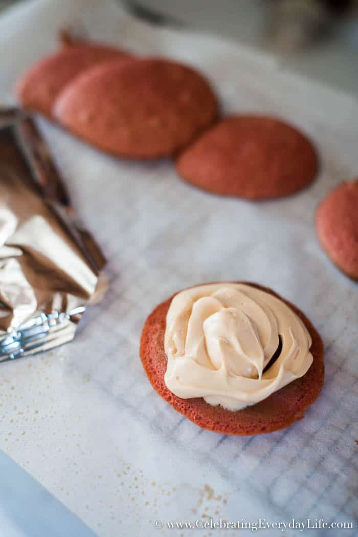 apple cider whoopie pies recipe, fall dessert recipe, cake mix recipes, box mix recipes, fall dessert, apple cider dessert, fall entertaining, Betty Crocker Apple Cider Cake Mix Kit, celebrating everyday life with Jennifer Carroll