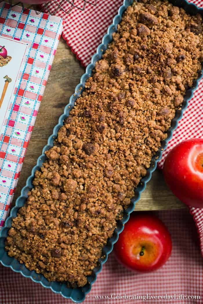 Apple Crisp Ingredients, Heart of the Home cookbook by Susan Branch, Apple Crisp recipe, Notes from a Vineyard Kitchen cookbook, Celebrating Everyday Life with Jennifer Carroll