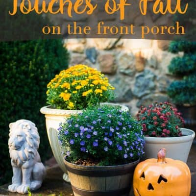 Touches of Fall on the Front Porch