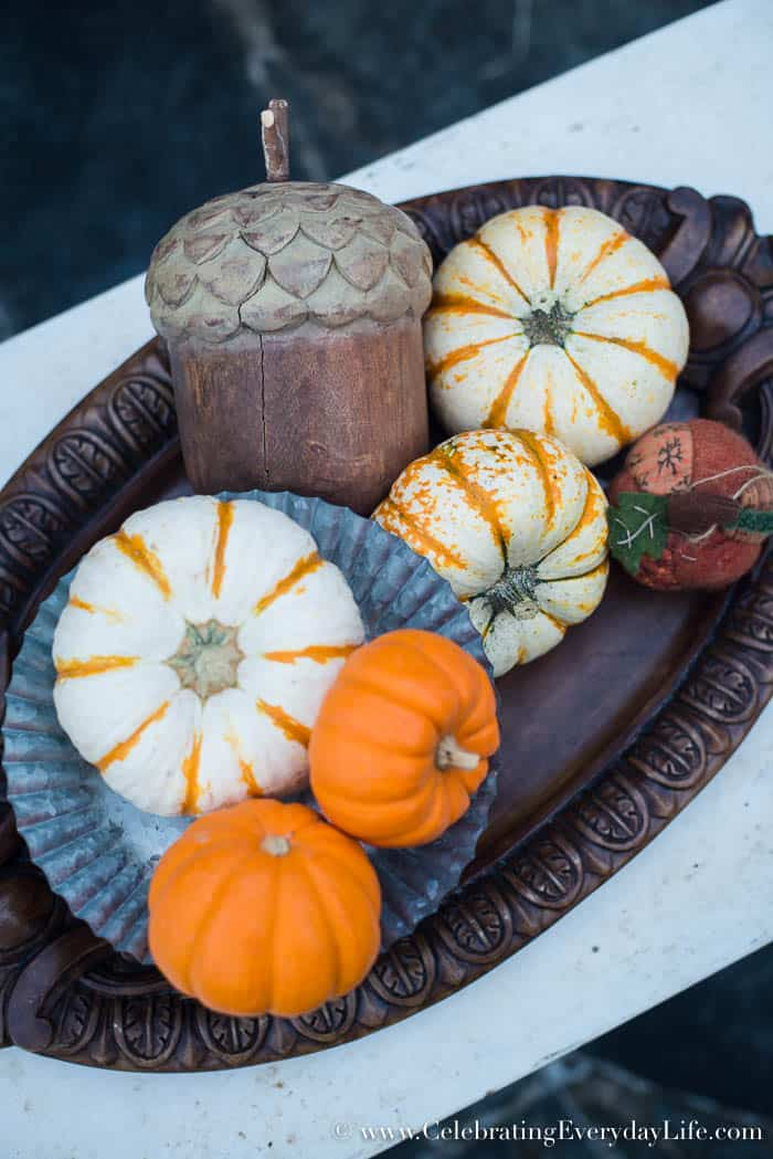 fall porch ideas, decorating for fall with warm tones, Elegant fall porch decor, fall patio decor, Celebrating Everyday Life with Jennifer Carroll