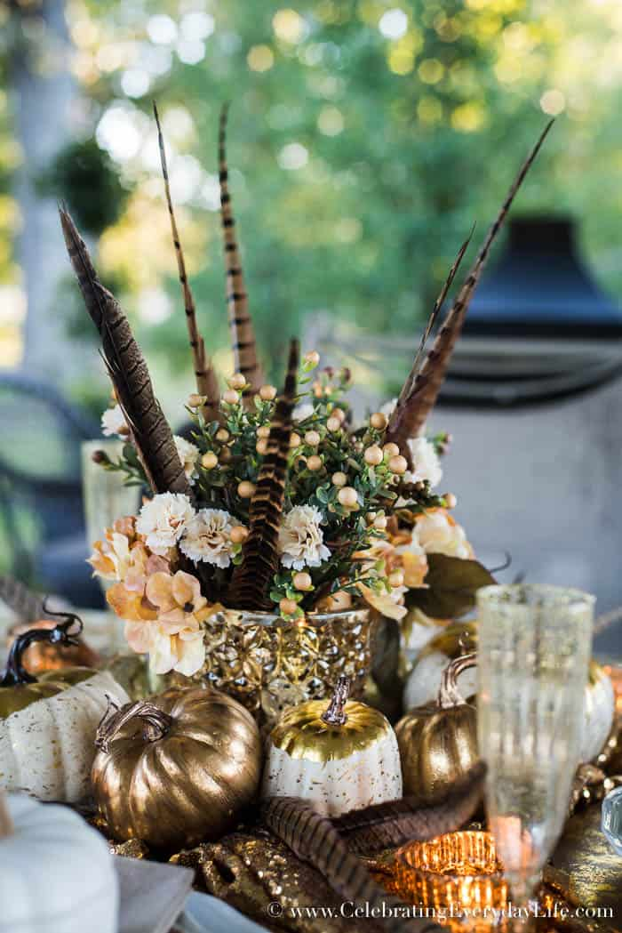 cream and gold fall supper, cream and gold fall entertaining, glamorous fall table, A Glamorous Fall Supper in Cream and Gold, Sparkly fall table, Golden fall table, Elegant Fall entertaining, Ralph Lauren Fall entertaining, Celebrating Everyday Life with Jennifer Carroll
