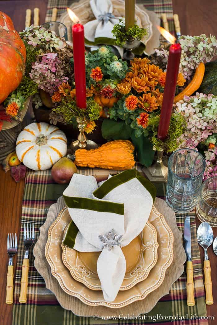 A Fall Tablescape, Fall Entertaining, Welcome Autumn, autumn splendor, Harvest table, Thanksgiving table decor, thanksgiving table ideas, Lush fall table ideas, outdoor fall entertaining, Celebrating Everyday Life with Jennifer Carroll