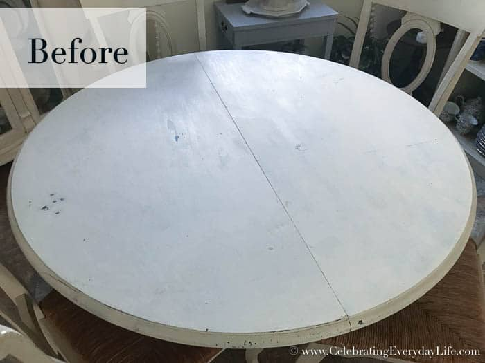 painted dining room table before, my paint saint, keep paint fresh aid, how to store paint, air tight paint storage, easy paint touchups, Celebrating Everyday Life with Jennifer Carroll
