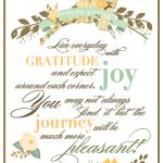Happy Thanksgiving & An Everyday Gratitude Printable