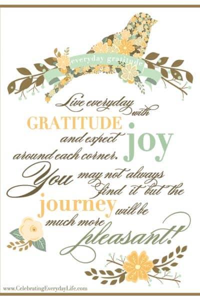 Happy Thanksgiving & An Everyday Gratitude Printable