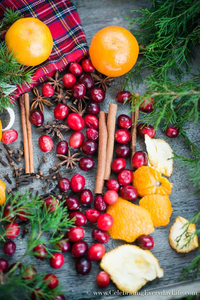 how to make a holiday simmer recipe, How to make your home smell like Christmas, Christmas Potpourri recipe, homemade christmas potpourri, homemade christmas gift idea, hostess gift idea, homemade presents, Celebrating Everyday Life with Jennifer Carroll,