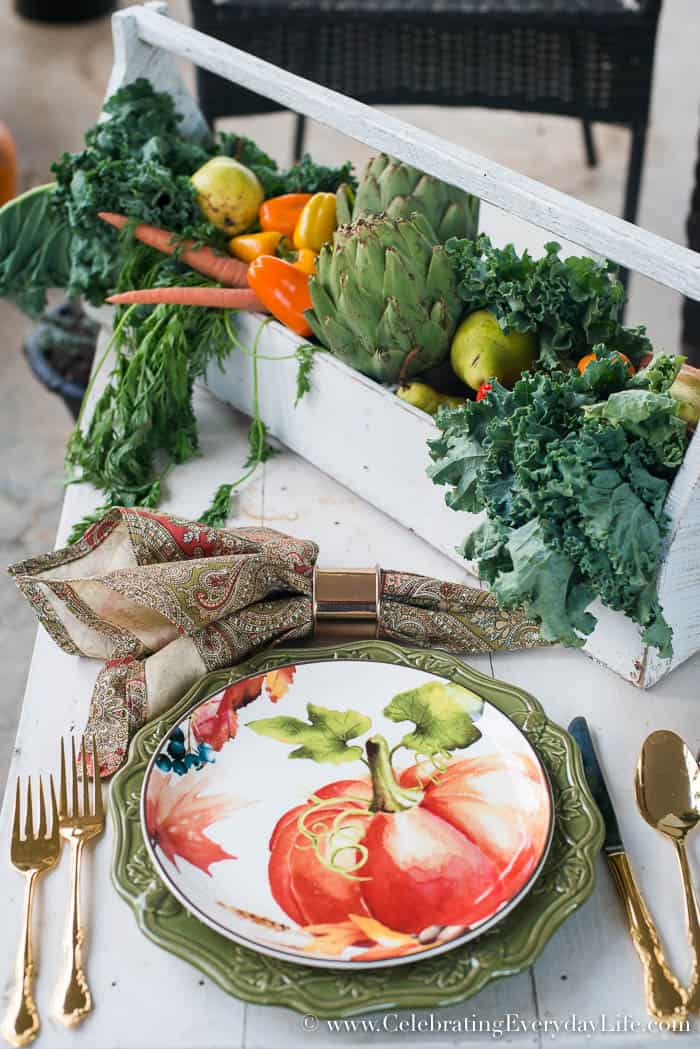 Vegetable Thanksgiving Centerpiece, How to make your own Thanksgiving centerpieces, Easy Centerpiece Ideas, Easy Thanksgiving Centerpiece ideas, Easy Christmas Centerpiece Ideas, Easy Holiday Entertaining, HomeTalk, Celebrating Everyday Life with Jennifer Carroll
