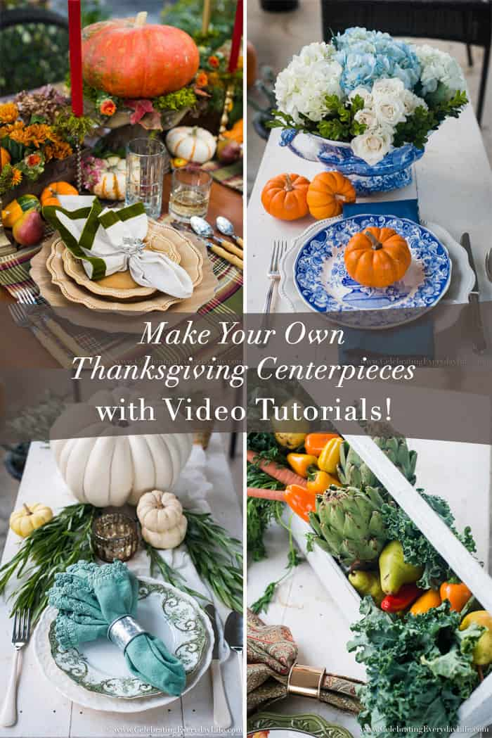 How to make your own Thanksgiving centerpieces, Easy Centerpiece Ideas, Easy Thanksgiving Centerpiece ideas, Easy Christmas Centerpiece Ideas, Easy Holiday Entertaining, HomeTalk, Celebrating Everyday Life with Jennifer Carroll
