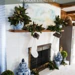 5 minute Easy Christmas Mantel Decor