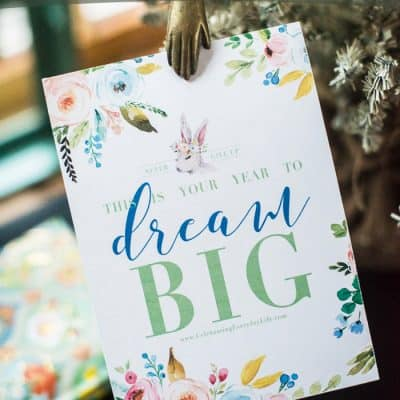 Let's Dream Big New Year's Goals + printables