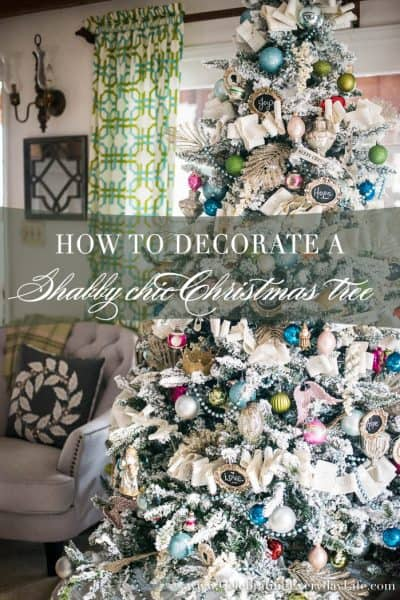 How to Decorate a Flocked Shabby Chic Christmas Tree