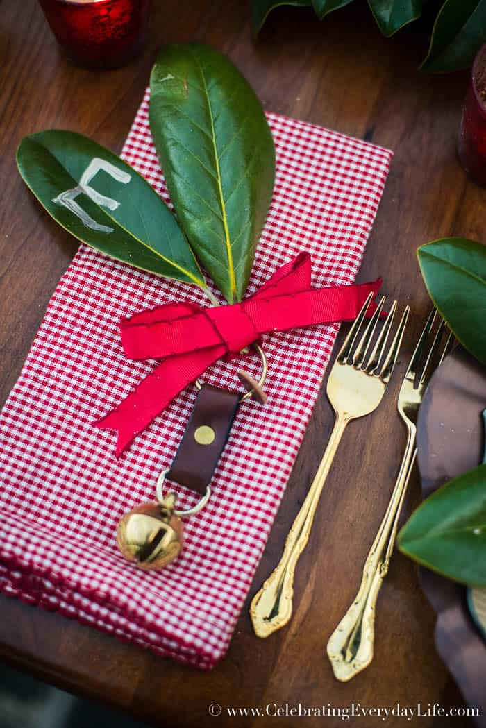 Christmas Jingle Bell Napkin Ring, Celebrating Everyday Life with Jennifer Carroll, www.CelebratingEverydayLife.com