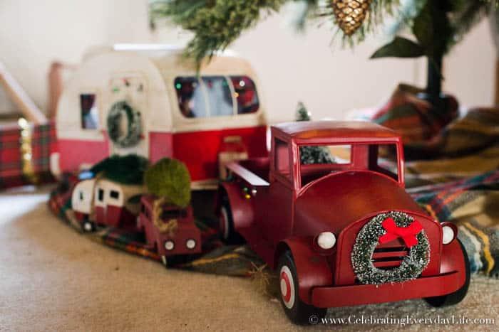 A vintage inspired Red Truck and Camper Van from Target   Celebrating Everyday Life with Jennifer Carroll   www.CelebratingEverydayLife.com
