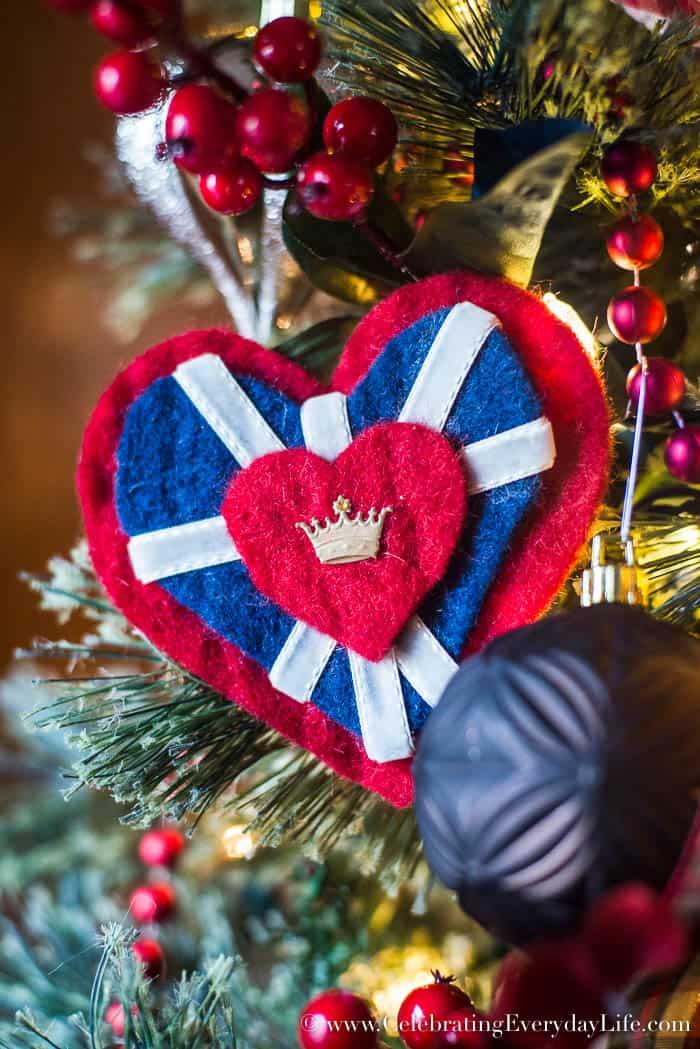 How To Make a Felt Union Jack Heart Ornament   Celebrating Everyday Life with Jennifer Carroll   www.CelebratingEverydayLife.com