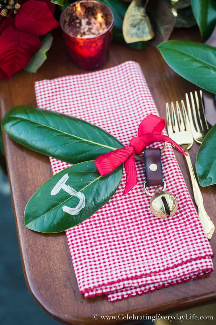 Red and White plaid Napkin Ring, Celebrating Everyday Life with Jennifer Carroll, www.CelebratingEverydayLife.com