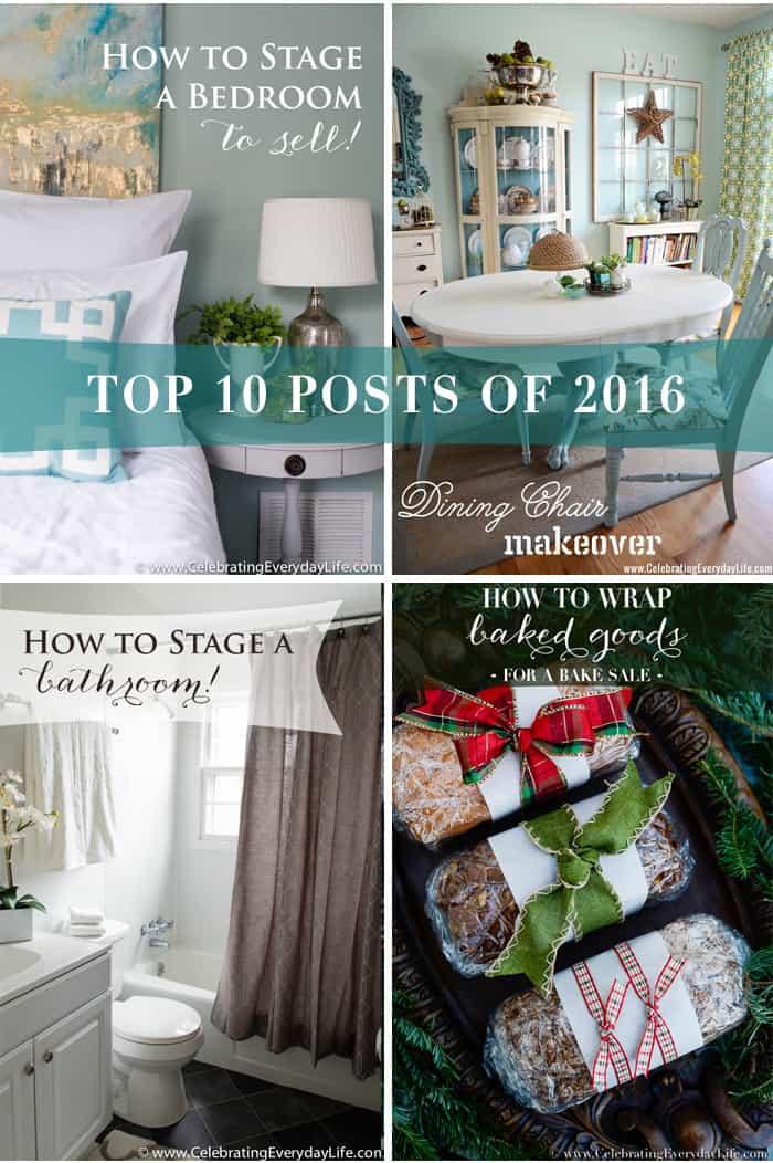 Top 10 Posts of 2016 | Celebrating Everyday Life with Jennifer Carroll | www.CelebratingEverydayLife.com