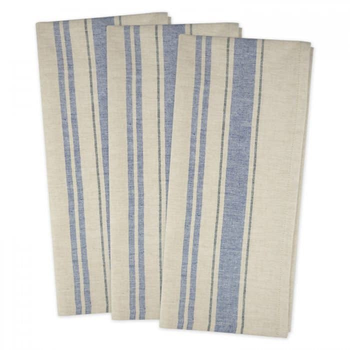 French Stripe Flour Sack Dish Towels | Celebrating Everyday Life with Jennifer Carroll | www.CelebratingEverydayLife.com