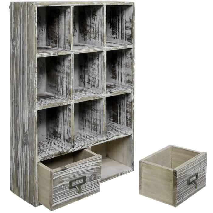 Cubby Storage Rack for Farmhouse Kitchen Style | Celebrating Everyday Life with Jennifer Carroll | www.CelebratingEverydayLife.com