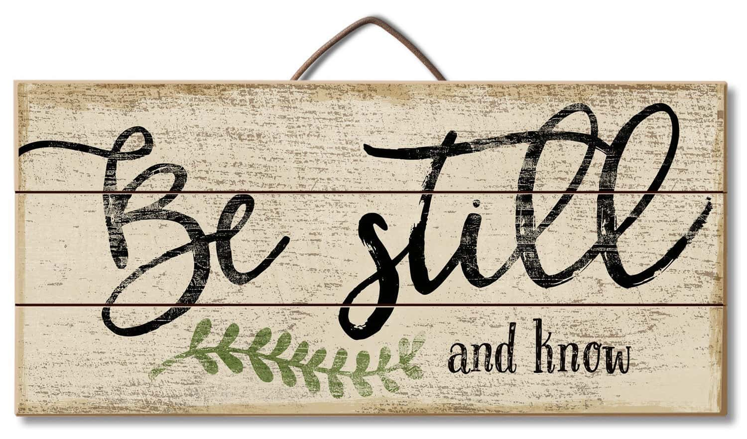 Be Still Rustic Sign for Farmhouse Kitchen Style | Celebrating Everyday Life with Jennifer Carroll | www.CelebratingEverydayLife.com