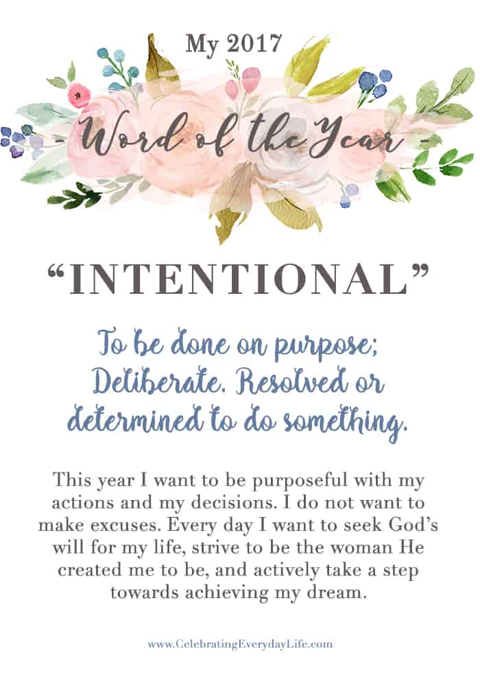 How to Pick your Word of the Year | Celebrating Everyday Life with Jennifer Carroll | www.CelebratingEverydayLife.com