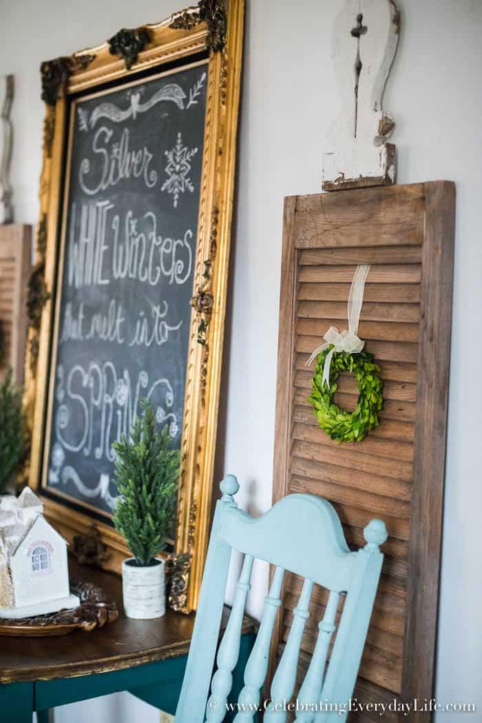 5 EASY Farmhouse Touches for Winter Decor | Celebrating Everyday Life with Jennifer Carroll | www.CelebratingEverydayLife.com