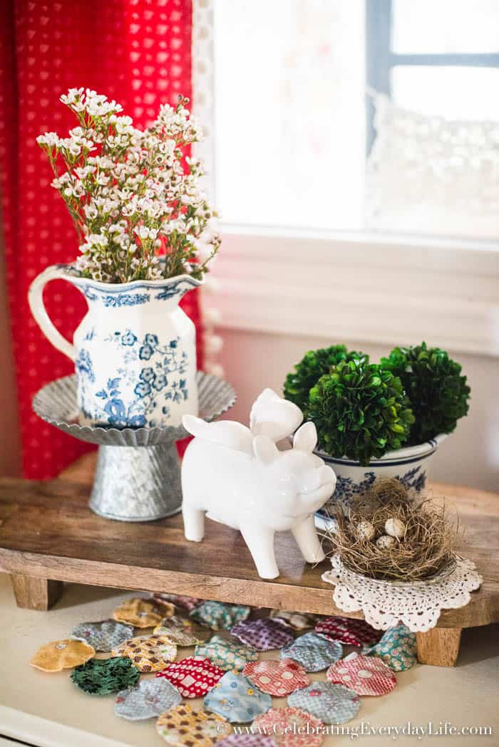 10 minute decorating, How To Create A Layered Kitchen Vignette   Celebrating Everyday Life with Jennifer Carroll   www.CelebratingEverydayLife.com