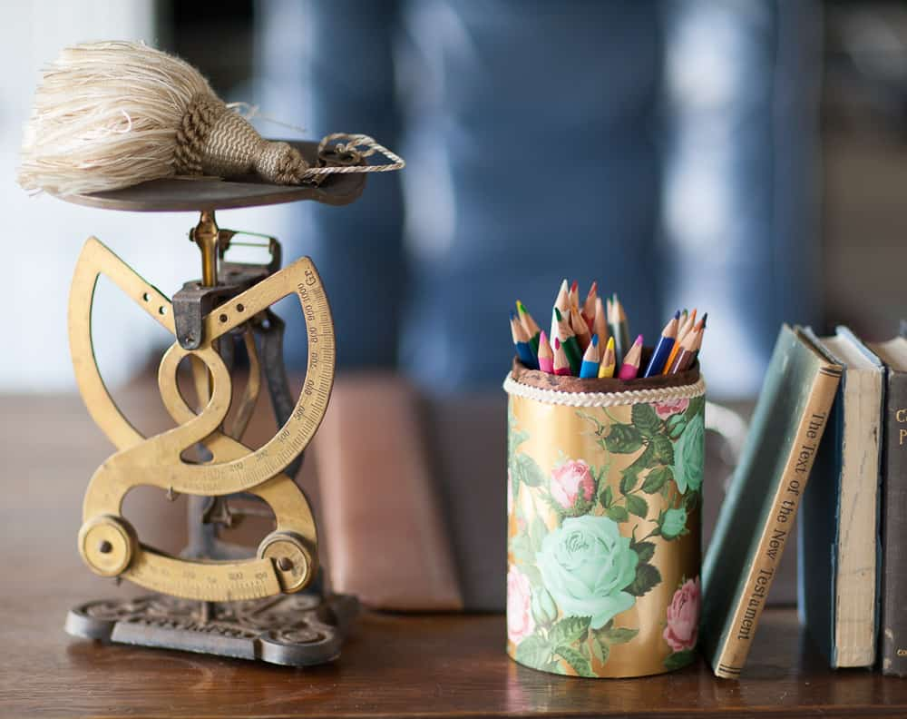 Sundays At Home Feature DIY pencil holder from Cedar Hill Farmhouse