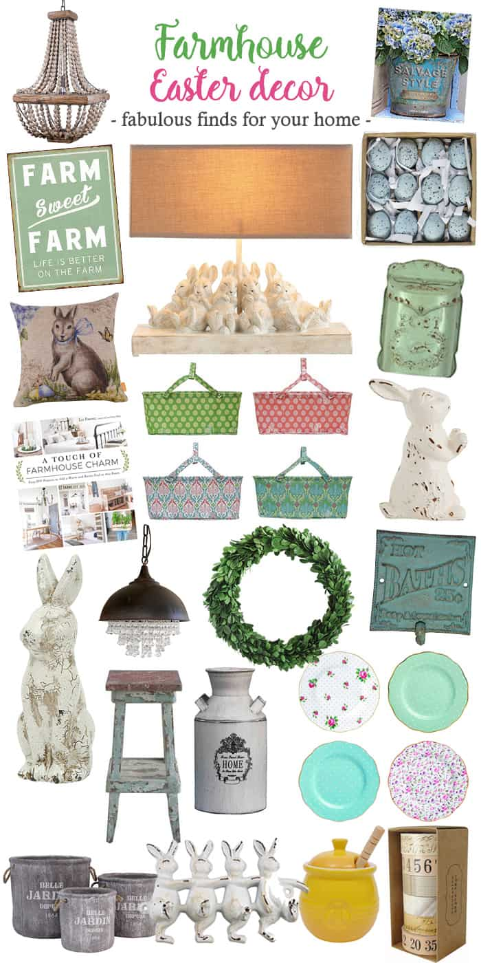 Favorite Finds to Add Farmhouse Easter Decor to your home