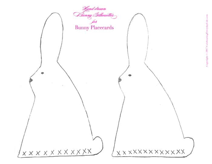 Bunny Silhouette Place cards from CelebratingEverydayLife.com