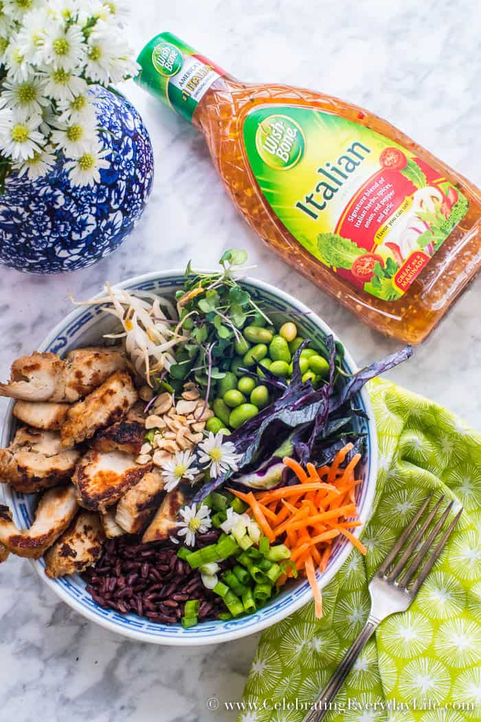 Make this easy Tasty Thai Buddha Bowl for dinner tonight | Celebrating Everyday Life with Jennifer Carroll | www.CelebratingEverydayLife.com