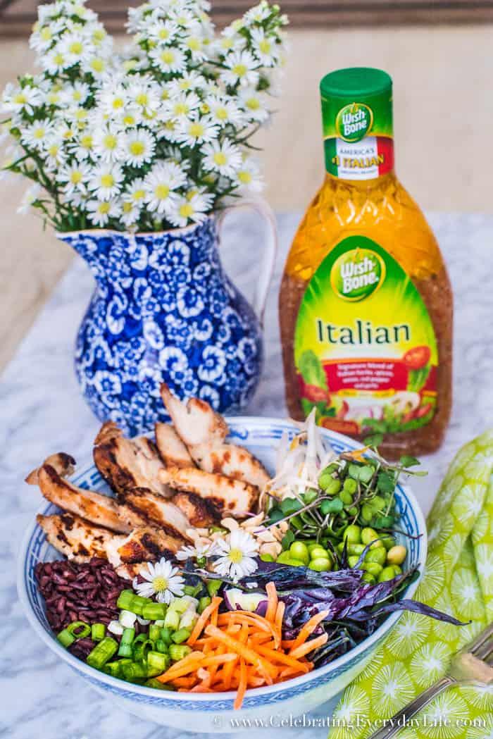 Make this easy Tasty Thai Buddha Bowl for dinner tonight | Celebrating Everyday Life with Jennifer Carroll | www.CelebratingEverydayLife.com