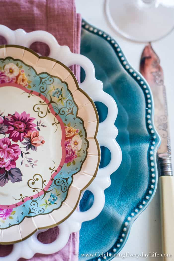 This Egg Shell Easter Tablescape is part of the Make Something From Nothing Challenge | Celebrating Everyday Life with Jennifer Carroll