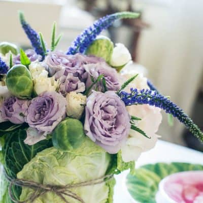 DIY Easter Cabbage Arrangement Tutorial