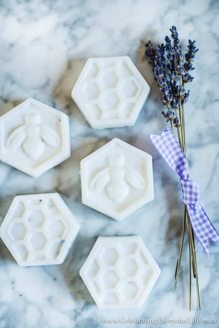 Two ingredients and less than 10 minutes are all it takes to make these beautiful and gift-worthy Easy DIY Bee Soaps!