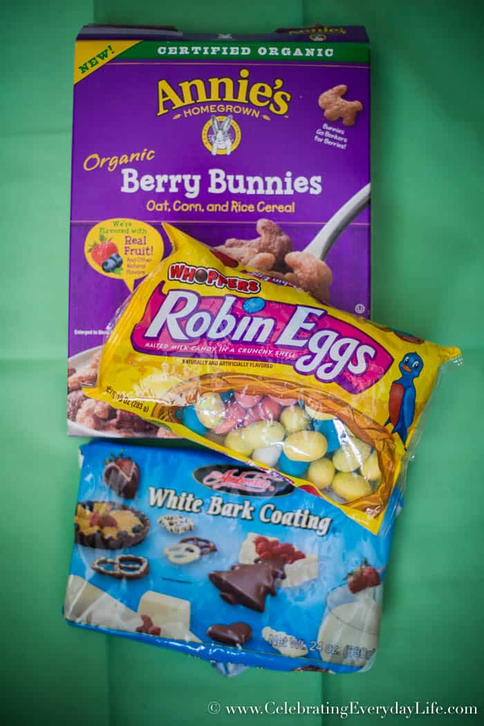 Ingredients for Easy Easter Bunny Bark recipe