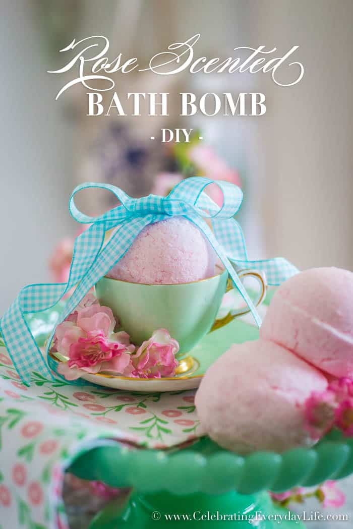 Learn to make your own Rose Scented Bath Bombs. Perfect for a lush bath or as a great gift!