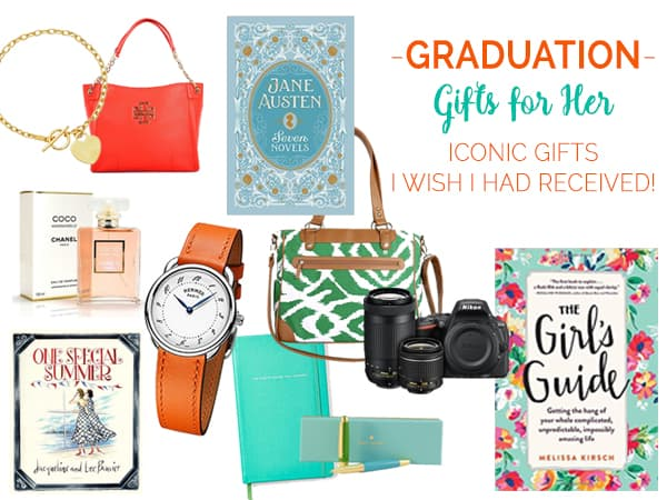 Great Graduation Gifts for Her! Iconic graduation gifts for every budget that will inspire your Grad to reach for her dreams and conquer the world!