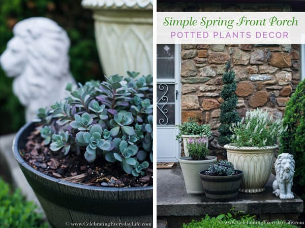 Dress up your Front Porch this Spring | Celebrating Everyday Life blog