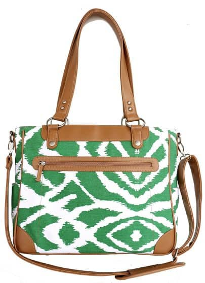 Stylish Green Ikat Camera Bag