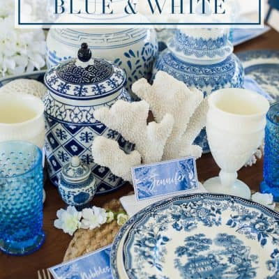 Al Fresco Luncheon in Blue & White