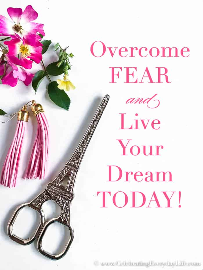 Overcome Fear Live Your Dream Today