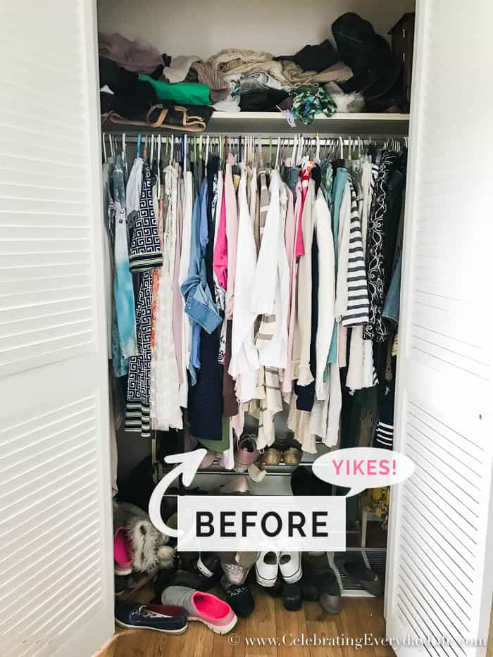 7 No-Fail Ways To Organize Your Closet NOW, Easy tips to help you organize your closet. How to sort and store your clothes and shoes to look and feel good in what you own and create outfits in a snap.