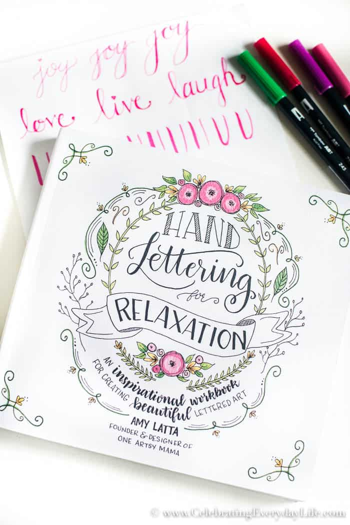 Hand Lettering for Relaxation by Amy Latta One Artsy Mama blog