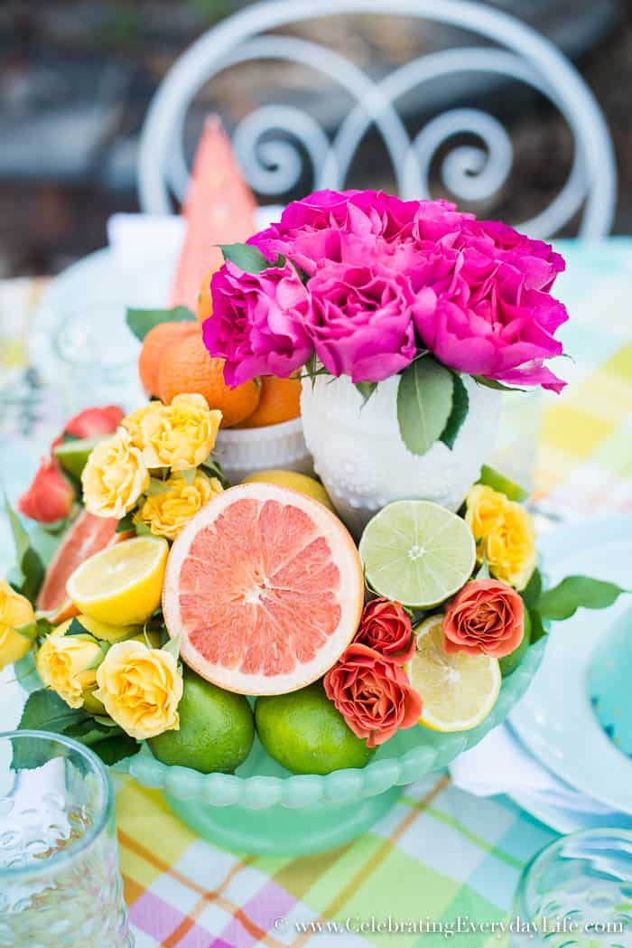Make this Easy + Colorful Table with Simple Grocery Finds, Celebrating Everyday Life with Jennifer Carroll
