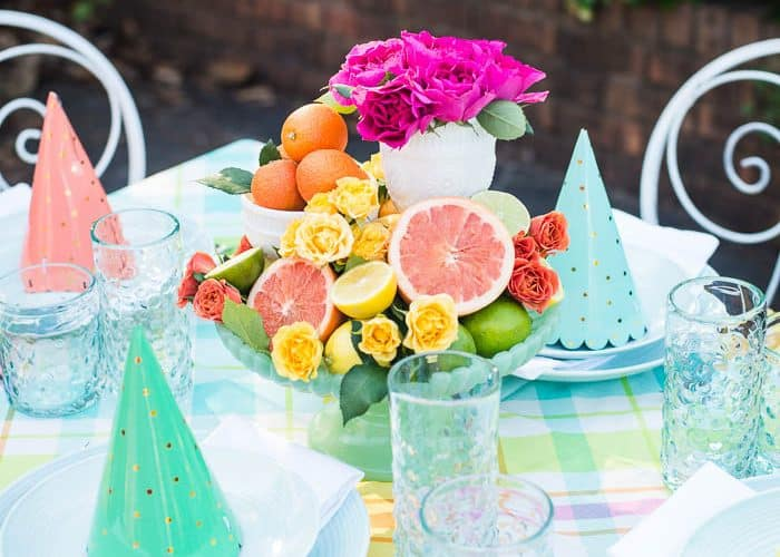 Make this Easy + Colorful Table with Simple Grocery Finds + Video!