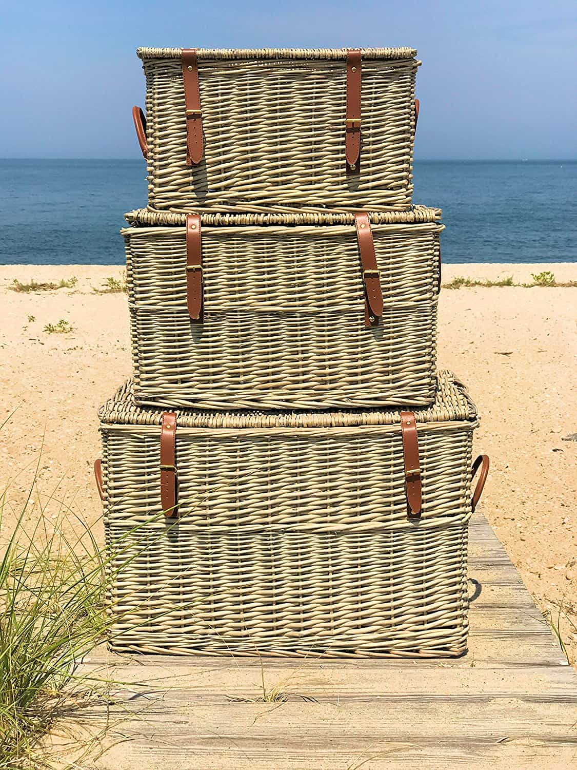 Cape Cod Stacking Baskets, I'm sharing How to Hide Toys in Your Living Room with these Farmhouse Toy Storage Ideas. A great way to blend fun with style!,